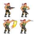 Commando Knife Attack Game Sprite