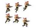 Commando Running Game Sprite