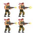 Commando Shooting Game Sprite