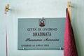 Commemoration of the death morosini player livorno calcio piermario morisini celebration in church and later stage Royalty Free Stock Image
