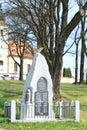 Commemoration of world war one in the village chroboly sumava czech republic Royalty Free Stock Photos