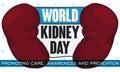 Commemorative Design for World Kidney Day, Promoting Prevention and Awareness, Vector Illustration