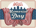 Commemorative Retro Design for Memorial Day, Vector Illustration