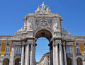Commerce square famous also known as terreiro do paco in lisbon portugal Stock Photo