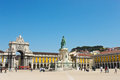 Commerce square in lisbon portugal Royalty Free Stock Photography