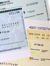 Commercial Bank Checks. Royalty Free Stock Photography