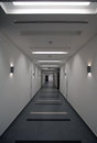 Commercial building corridor a in a modern Royalty Free Stock Image