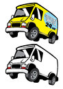 Commercial cartoon van vector of Stock Photography