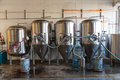 Commercial Craft Beer Making at Brewery Royalty Free Stock Photo