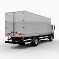 Commercial delivery cargo truck d render on white Royalty Free Stock Image