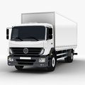 Commercial delivery cargo truck d render on white Royalty Free Stock Photos