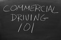 stock image of  Commercial Driving 101 On A Blackboard