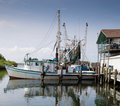Commercial Fishing boat in marina Stock Photos