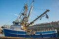 Commercial fishing vessel moored at fishermen s terminal Royalty Free Stock Image