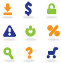 Commercial icons Royalty Free Stock Photo