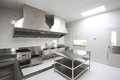 Commercial kitchen room with equipment Royalty Free Stock Photo