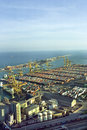 Commercial port. Barcelona. Royalty Free Stock Image