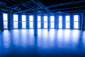 Commercial premises in a shopping center rental blue color with ventilation system Stock Photo