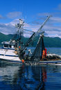 Commercial Salmon Fishing Royalty Free Stock Images