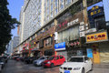 Commercial street in amoy city china Royalty Free Stock Photo