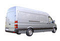 Commercial van isolated modern on a light background Royalty Free Stock Photo