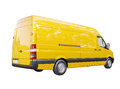 Commercial van isolated modern on a white background Royalty Free Stock Photo