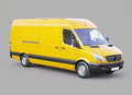 Commercial van modern on a gray background Stock Image