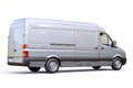 Commercial van modern on a light background Royalty Free Stock Images