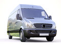 Commercial van modern on a light background Stock Image