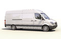 Commercial van modern on a light background Royalty Free Stock Photos