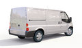 Commercial van modern on a light background Stock Images
