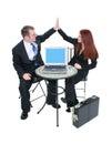 Commercieel Team Hoge Vijf Stock Foto's