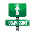 Commission road sign illustration design over a white background Royalty Free Stock Photo