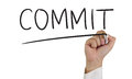 Commit Concept Royalty Free Stock Photo