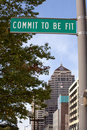 Commit to be Fit sign