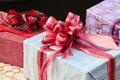Commodity gift box modeling ribbon Stock Images