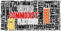 Commodity stock market or trading concept word cloud illustration Royalty Free Stock Photography
