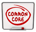 Common Core Word Circled Message Board Learning Concept Educatio