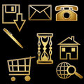 Common icons Stock Images