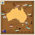 Commonwealth of australia landmark business and travel infograph infographic design template Royalty Free Stock Photos
