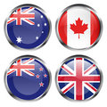Commonwealth flag buttons Royalty Free Stock Image