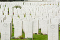 Commonwealth war graves in france showing close view of the headstones to the unknown dead Royalty Free Stock Photo