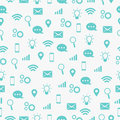 Communicate icon seamless pattern wifi network and more Royalty Free Stock Photo