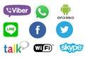 Communication app logos Royalty Free Stock Photo