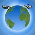 image photo : Communication around the globe