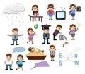 Communication and Business Cartoon Illustrations