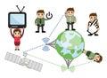 Communication Cartoon Vector Concepts