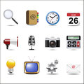 Communication channels and social media icon set Royalty Free Stock Photography