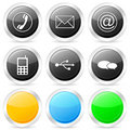 Communication circle icon set Royalty Free Stock Image