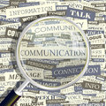 Communication concept related words in tag cloud conceptual info text graphic word collage Stock Photos